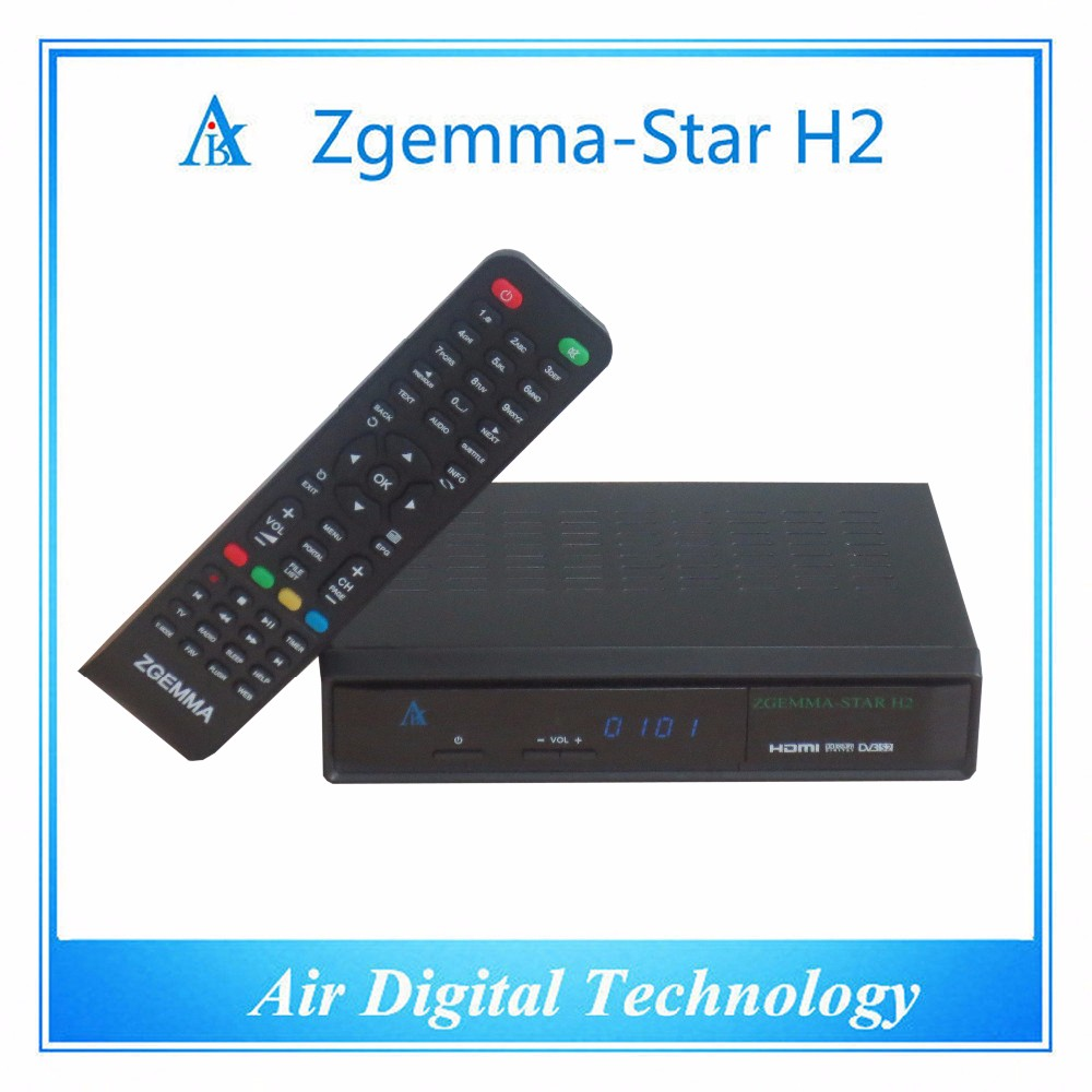 IN STOCK!!Zgemma-star H2 LNB satellite receiver DVB-s2+T2/C hybrid tuner SAMSUNG 109A tuner Satellite TV box