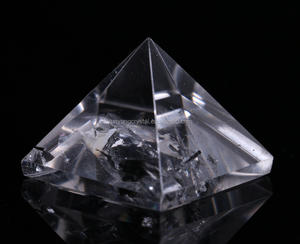 Customized egypt Clear quartz Crystal Pyramid