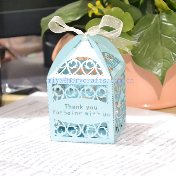 Laser Cut Bird Cage Favor Bo Blue Wedding