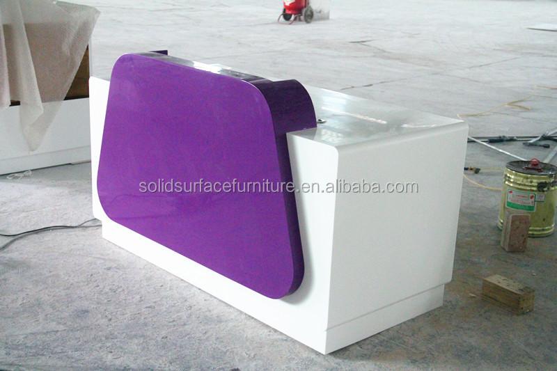 2014 Tw High Quality White Cloth Shop Cash Counter Design