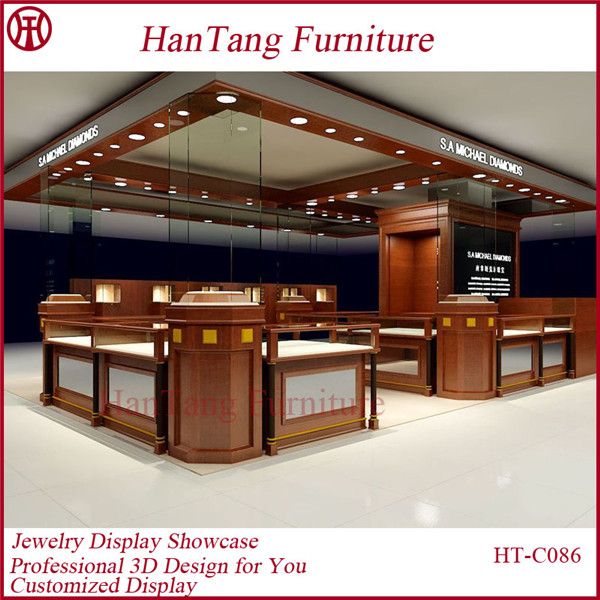 Jewellery showroom showcase interior design buy jewelry for A t design decoration co ltd