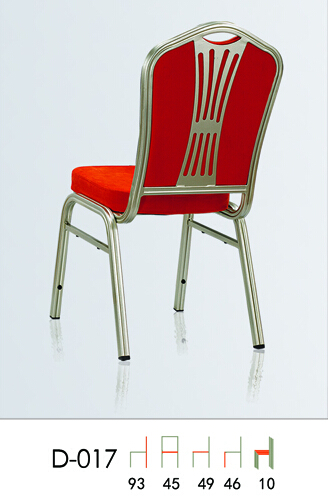 Strong Stacking Aluminum Banquet Hall Chair with Back Metal Mesh Decoration QL-D017