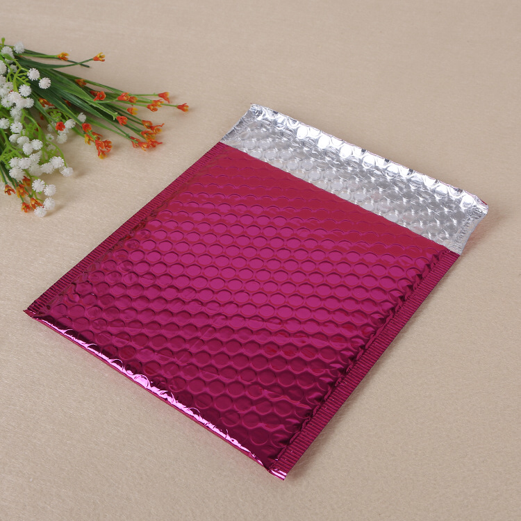 A4 size matt red metallic foil bubble mailer