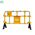 rubber road barrier Security Systems Safety pedestrian traffic temporary barrier control fence plastic/construction barricade