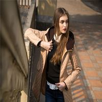 Best selling OEM design women quilted jacket with many colors