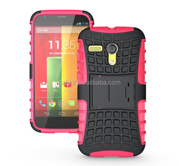 Hot selling hybrid soft tpu mobile phone case for Moto G XT1032