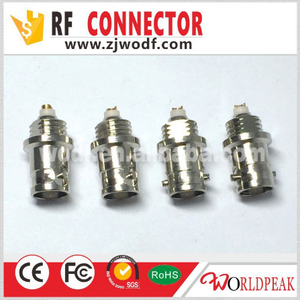 free samples male female wire connector BNC/F/N/SMA/TNC/UHF PCB mount Coaxial Cable bnc connector price