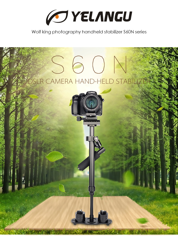 YELANGU Professional All Aluminum Alloy Handheld Camera Stabilizer S60N for Dslr Cameras and DV Camcorders