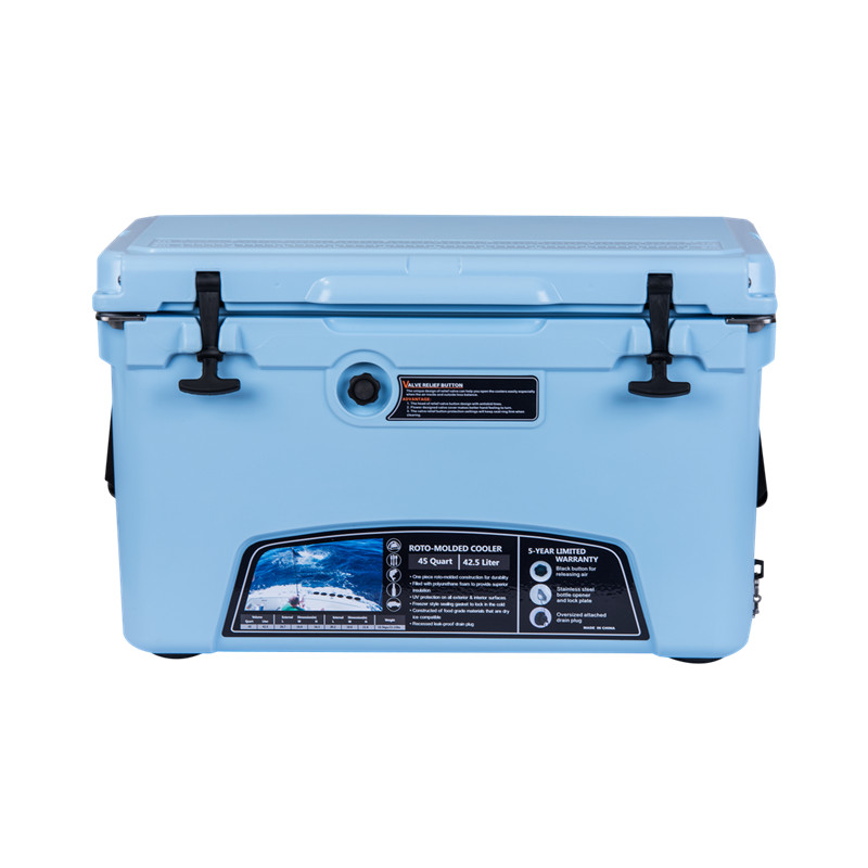 PU Insulation PE Material and Insulated large cooler plastic fish bin box from Kuer Coolers