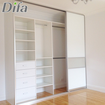Custom Top Quality Sliding Pvc Door Wardrobe Cabinets With