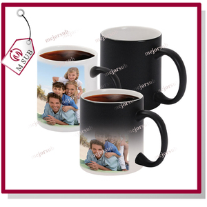 New Personalised Heat Colour Changing mug Gift Magic Image Photo Logo Text Cup