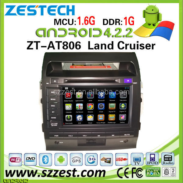 ZESTECH wholesale android <strong>car</strong> audio system for <strong>Toyota</strong> Land Cruiser with 3g wifi bluetooth