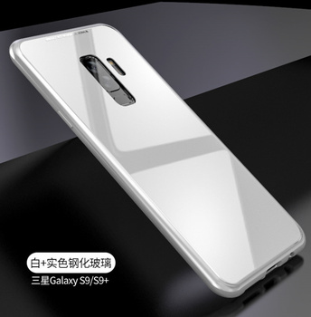 lowest price 9ed6b 71f6c Magnetic Adsorption Flip Cover Tempered Glass Phone Case For Samsung Galaxy  S9 S8 Plus Metal Bumpers - Buy Metal Bumpers,Flip Cover,Tempered Glass ...