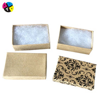 Cheap wholesale cotton filled jewelry boxes with custom logo