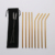 Set of 8 Metal Straw Stainless Steel Long Drinks Straws for Cold Beverage with Cleaning Brush