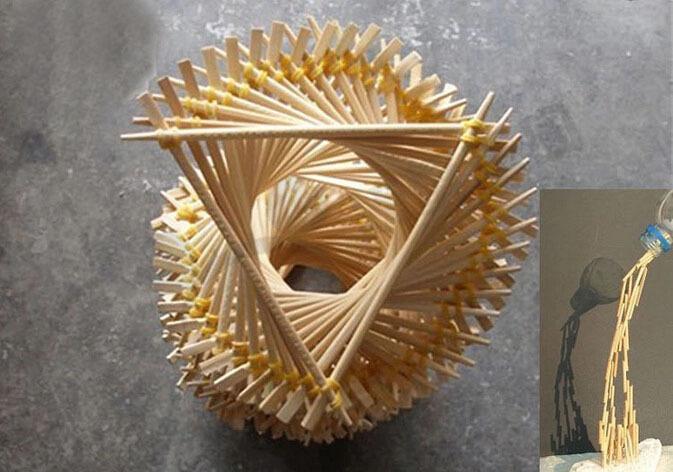 Dongguan Supplier 200 5mm Round Wood Crafts Sticks Child Diy Wood