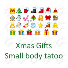 Tattoo sticker Party Lady Girl Christmas body art removable