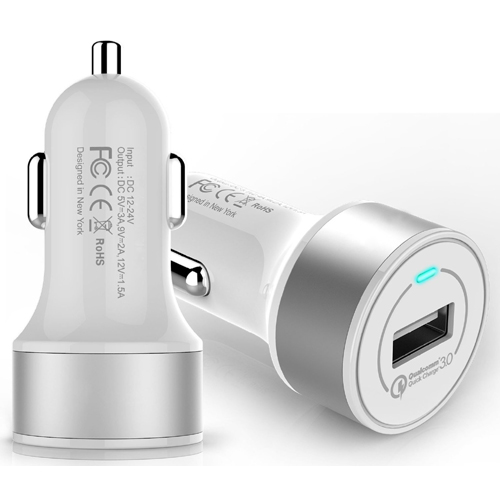 Quick charge 3.0 lastest qualcomm technology mobile phone car charger