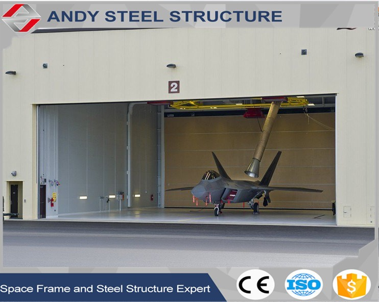 Steel structure prefabricated warehouse hangar