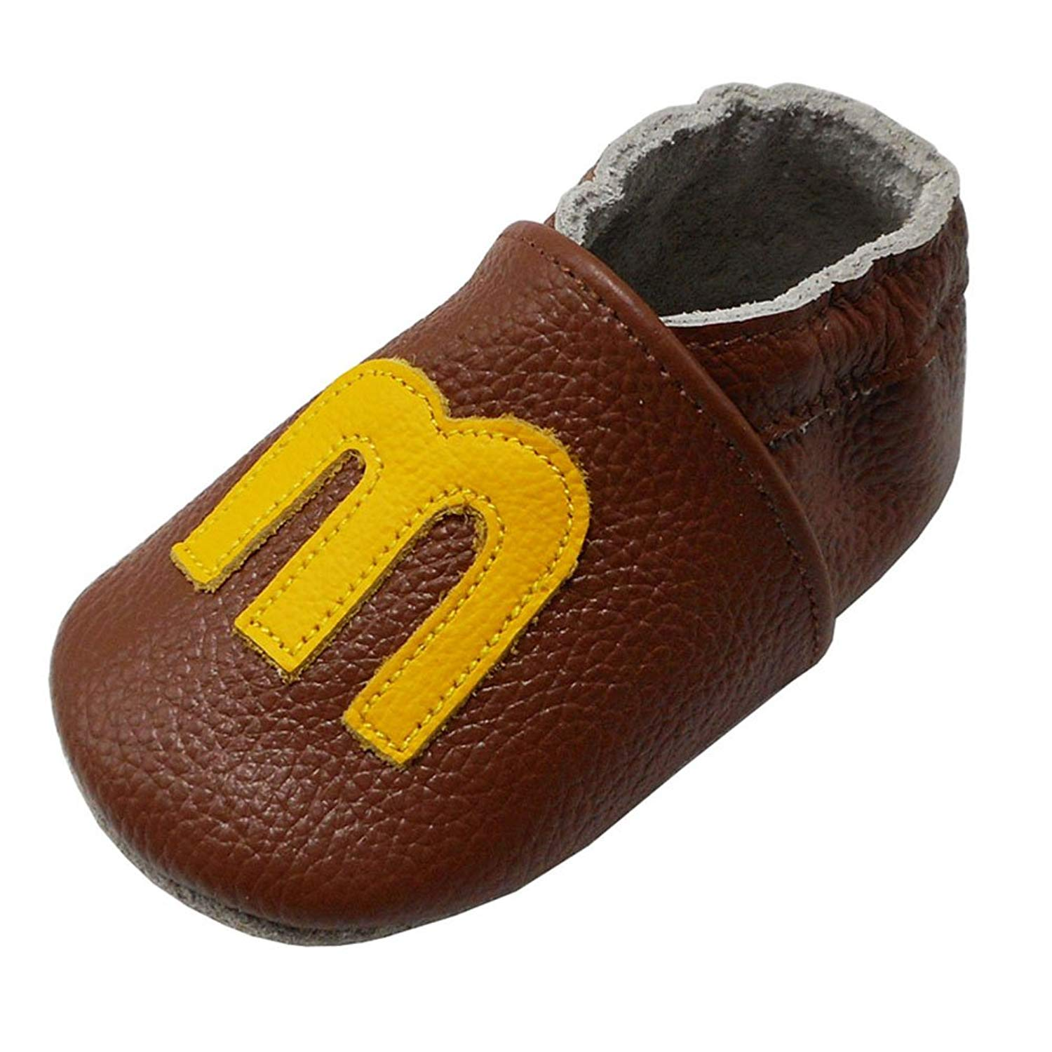 740d6f26e7c4 Get Quotations · Yalion Baby Soft Sole Leather Shoes Infant Boy Girl  Toddler Moccasin Prewalker Crib Shoes Letter-