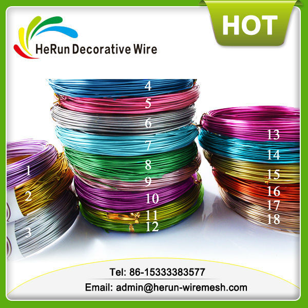 HR 2mm 16feet long colored aluminum wire