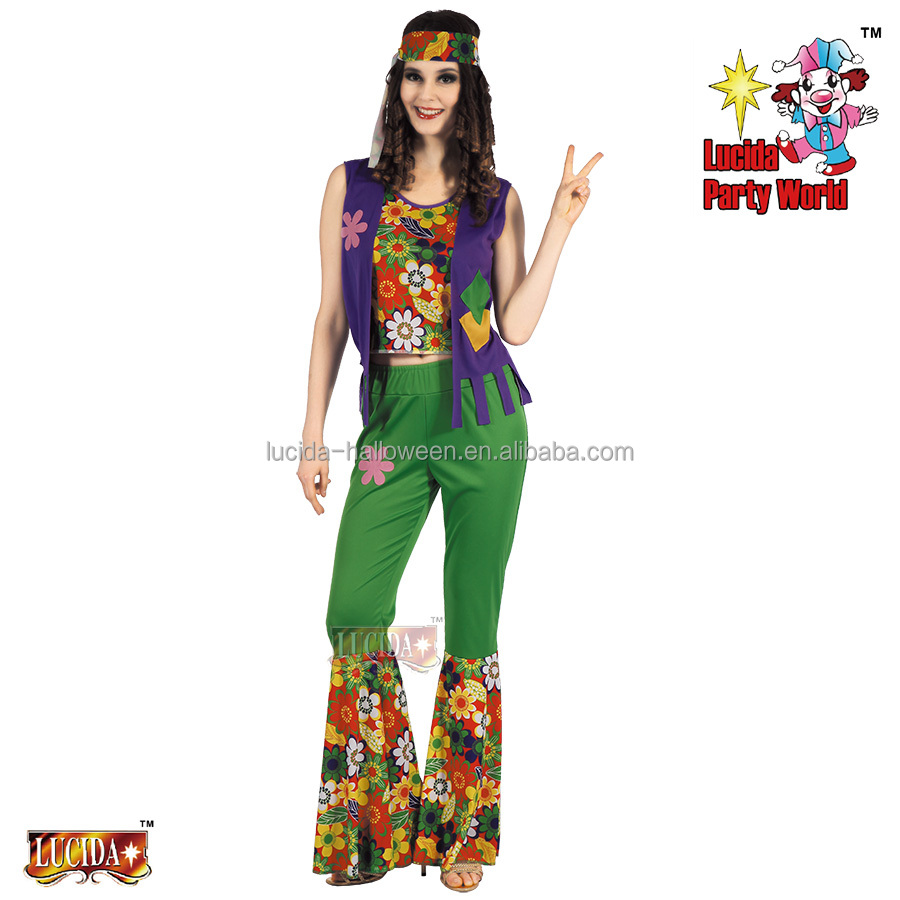 lucida halloween carnival costume adult 93018 hippie new arrival