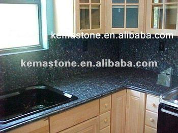 Importato Materiale Perla Blu Granito Top Cucina - Buy Blue Pearl ...