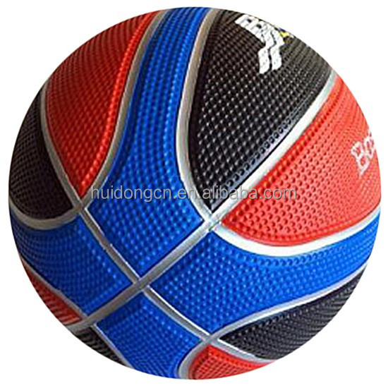 Top grade Golf Exterior 12 Panels Rubber basketballs wholesale design your own rubber ball size 7 size 5 size 3