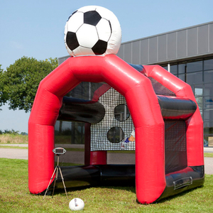 Inflatable shoot out cage Speed soccer shooter game