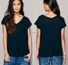 v-neckline women modal and cotton blank t-shirts short sleeve, modal and cotton blank t-shirts