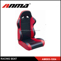 black and red PVC and MEMORY FOAM Auto Fashion Design booster seat