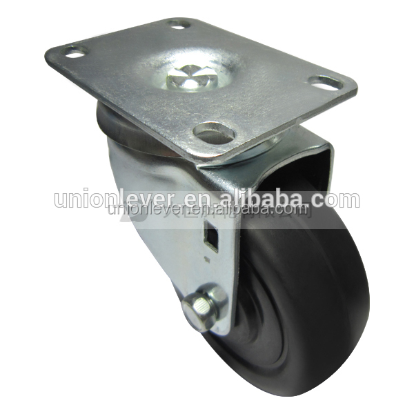 Swivel 3.5 inch caster plate type stainless chrom zinc finish castor antique metal cast iron casters