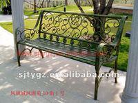 European style outdoor iron bench suitable for garden and park
