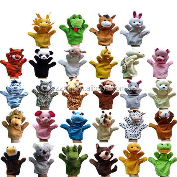 Free Sample Wholesale Factory Animal Wildlife Hand Glove Puppet Soft Plush Puppets 12 Styles Kid Childrens Toy