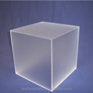 f48077d26b17 Cube Frosted Acrylic Plexiglass Case for LED Displays