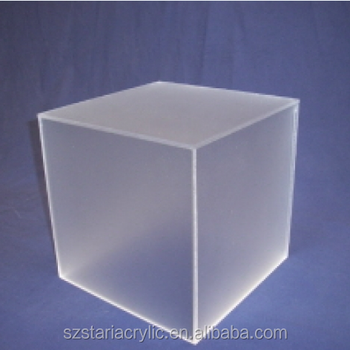 cube frosted acrylic plexiglass case for led displays buy acrylic