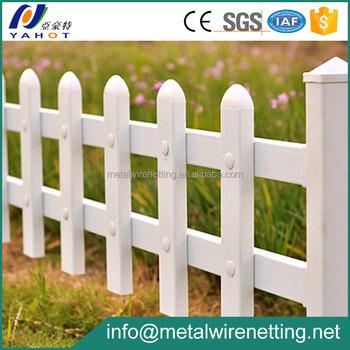 Small White Decorative PVC Plastic Garden Fence