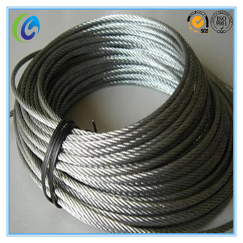 6*7 High Tensile Pvc Coated Galvanized Steel Wire Rope Cable - Buy ...
