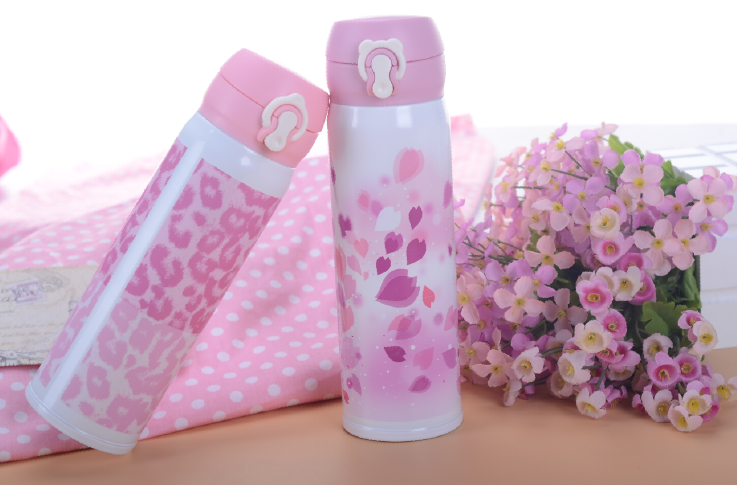 Factory direct sale cartoon cute double wall tumbler stainless steel insulated vacuum flask thermos bottle vacuum cup with belt