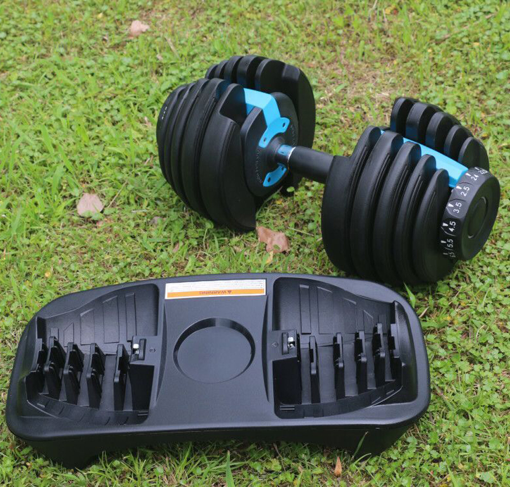 Populer Sale Kustom Logo 24Kg Dumbbell Adjustable Dumbbell 52lb 90lb Adjustable Dumbbell