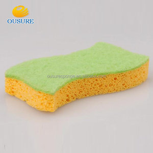 High density Professional household items kitchen cleaning wipe cellulose sponge with low price