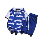 100% cotton short sleeve t shirt shorts baby boy clothes sets