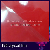 New arrival! Transparent lamination film with blue glitter used for photo