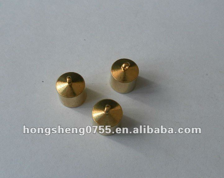 wholesale cheap metal end caps for rope,strap