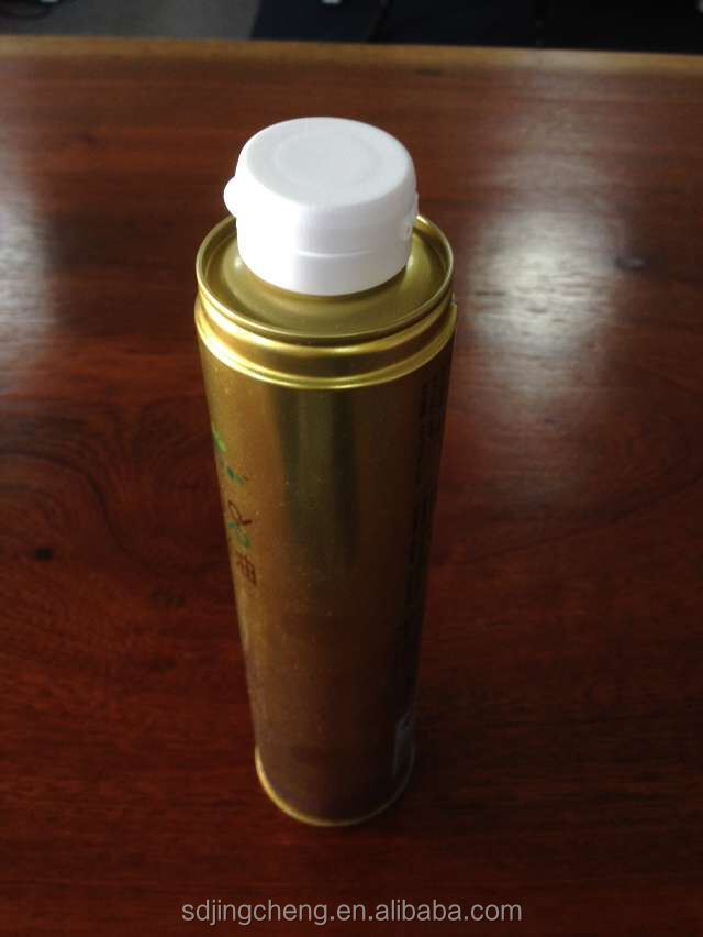 1 Liter printed round metal tin can / standard aerosol tin can sizes with plastic caps