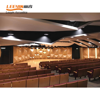 Best Choice Ceiling Tiles Sound Absorption Wooden Diffusers For Video Room