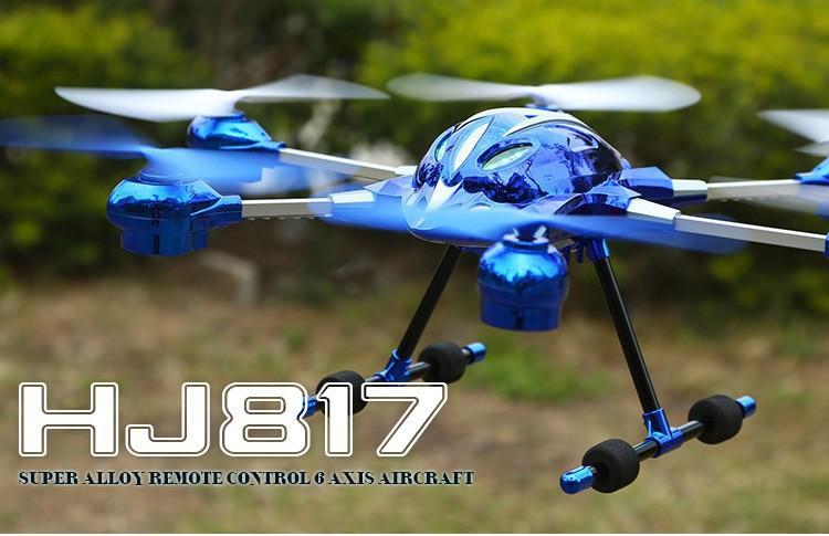 Rc Drone Rtf Huajun Hj817 6 Axis Gyro Drone With Led Light One Key ...