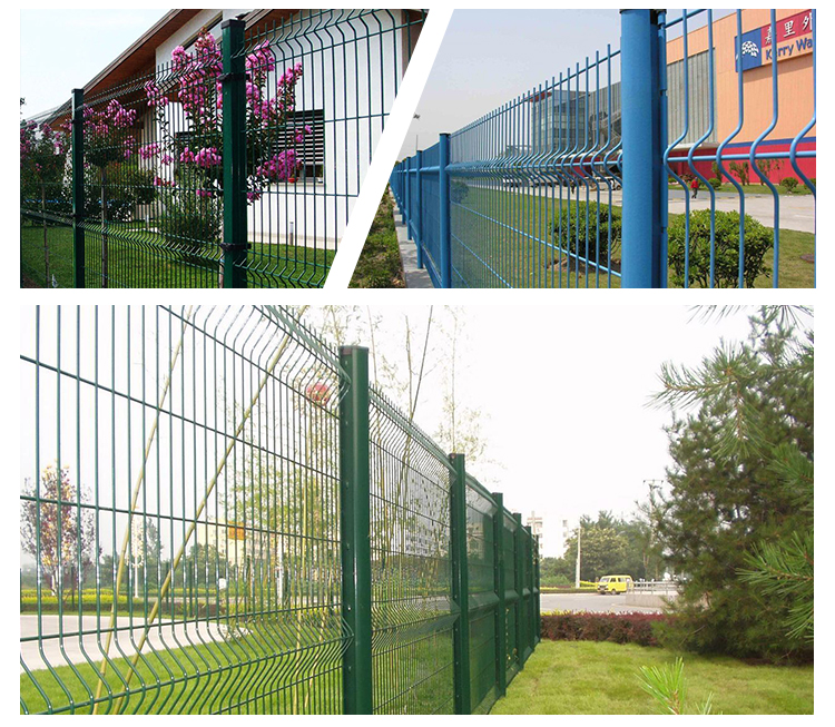 YESON pieghevole recinzione del giardino piegare pvc rivestito verde v pieghe 3d recinto di rete metallica