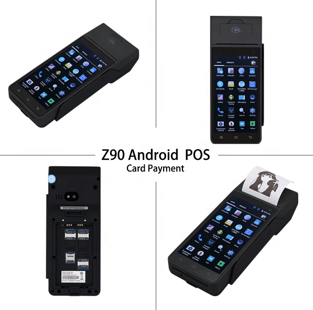 Smart handheld device POS Payment terminal for  Android NFC touch screen scan