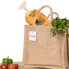 eco friendly reusable jute tote bag shopping jute hand bag burlap jute shopper